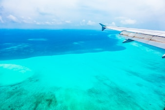 Zanzibar flying sea sky ocean