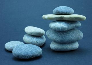 Zen rocks, abstract