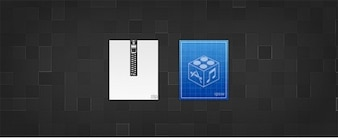 zip and ipsw replacement icons psd