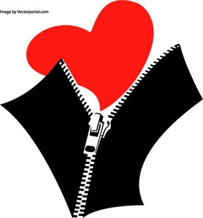 Zipped heart