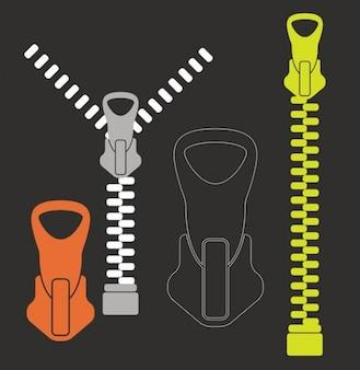 zippers vector pack