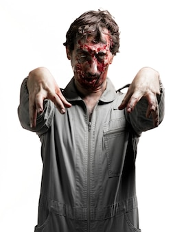 Zombie with arms raised