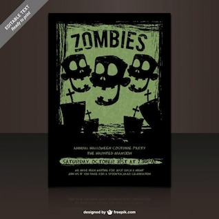 Zombies costumes party poster
