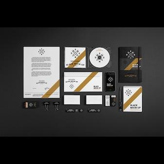 Бизнес канцелярские макете дизайн
