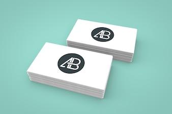 Визитных карточек макете
