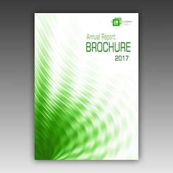 Зеленый шаблон брошюры