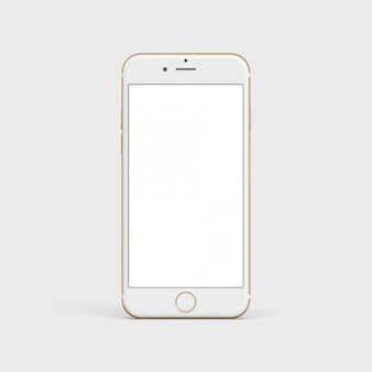 ホワイト携帯電話はモックアップ