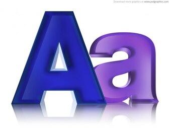 グローバルフォント 金属製のフォント : Uppercase and Lowercase Letter Templates