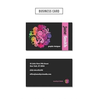 抽象的な形のビジネスカード