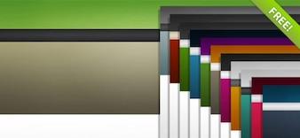 12 Web Ready Backgrounds PSD Set