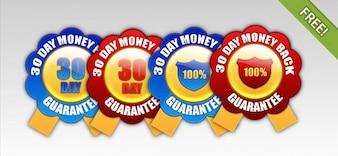 4 Free 30 Day Money Back Guarantee Badges