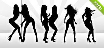 7 Hot Dancing Girl Silhouettes