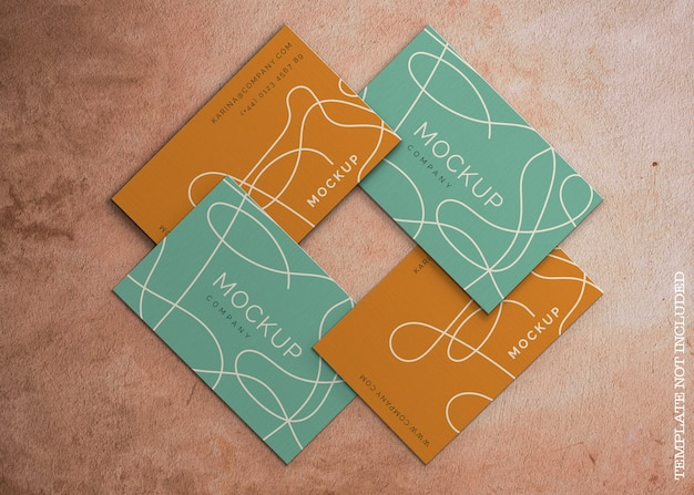 Abstract business card mockup