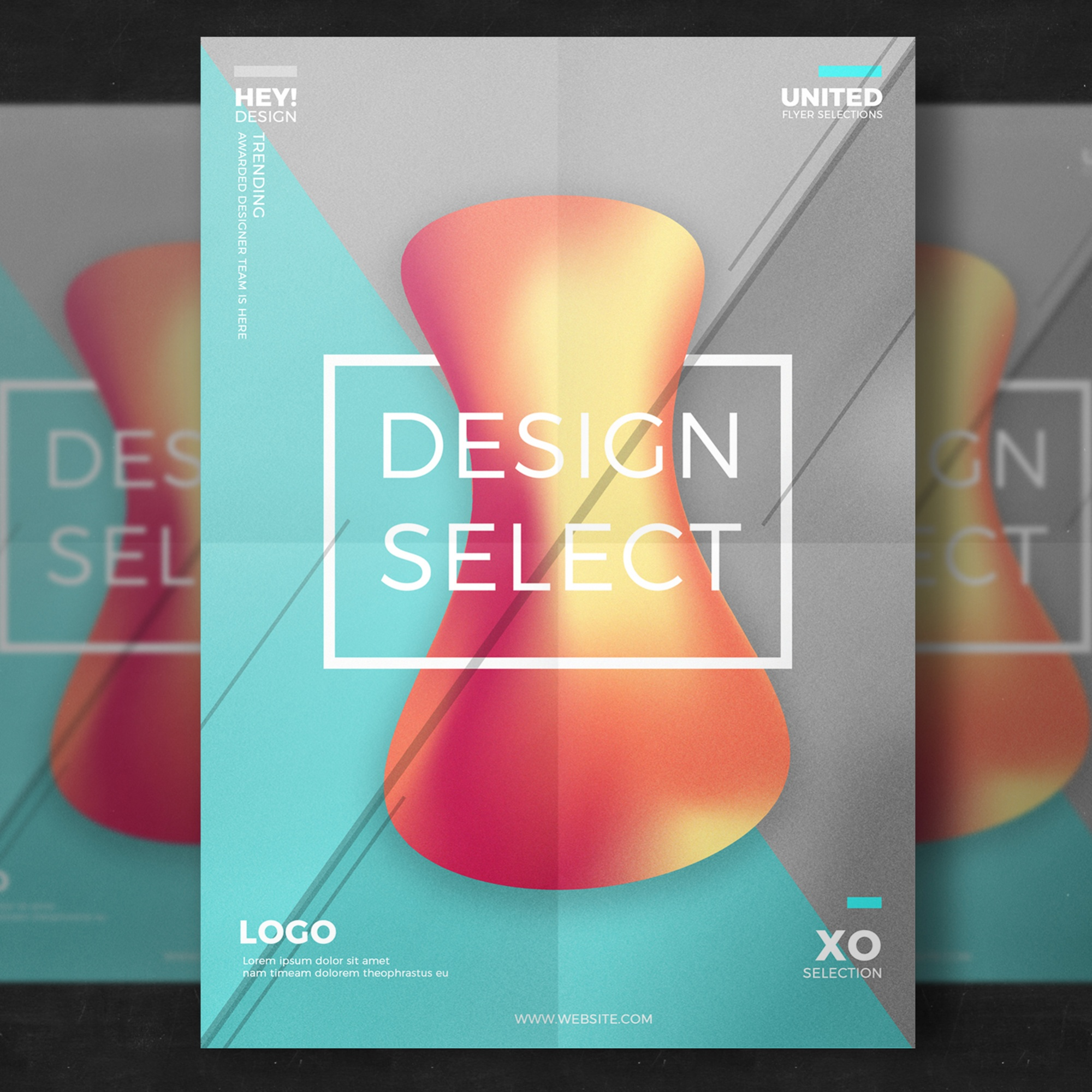 Abstract creative design poster