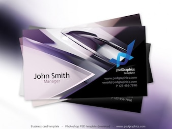 Abstract hi-tech design, business card template