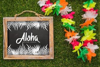 Aloha concept with slate