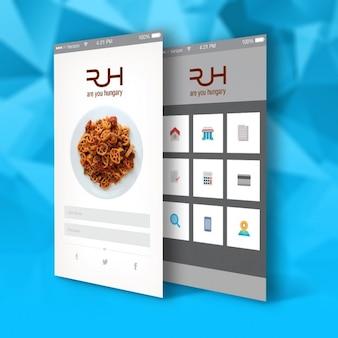 App template for restaurants