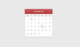 Application calendar hand stitched leather ui element web app