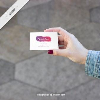 Artistic business card mockup
