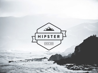Awesome vintage logo PSD
