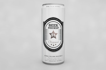 Beer can mock up