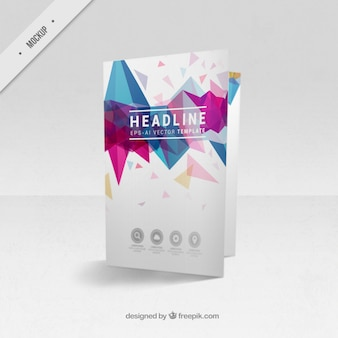 Bi-fold flyer mockup of modern shapes