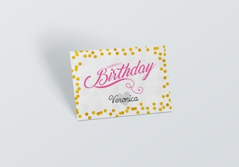 Birthday card mock up