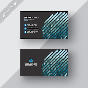 Black geometric business card