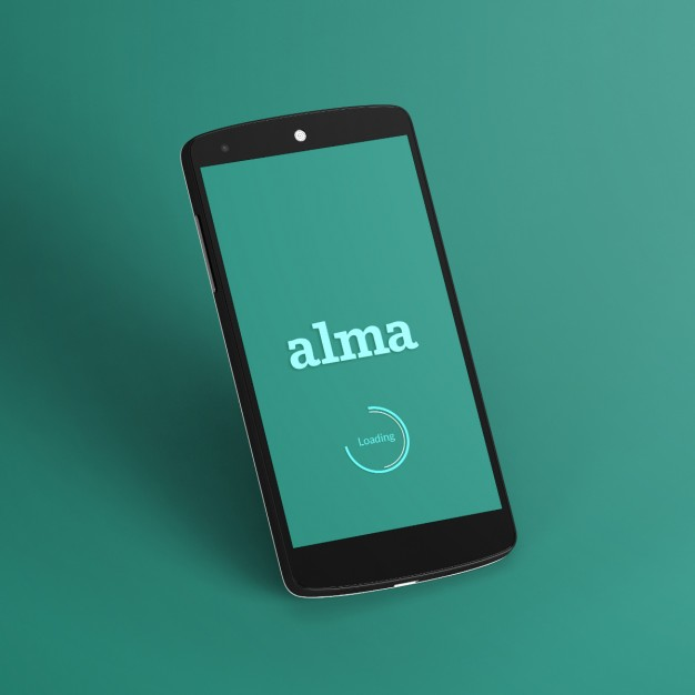 Black mobile phone template