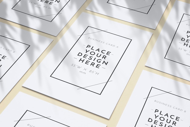 Blank business posters pattern