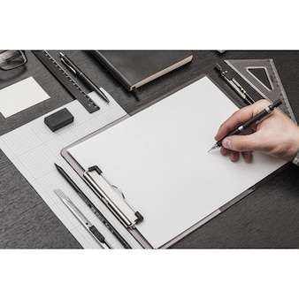 Blank page mock up design