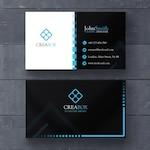 Blue and black geometric card