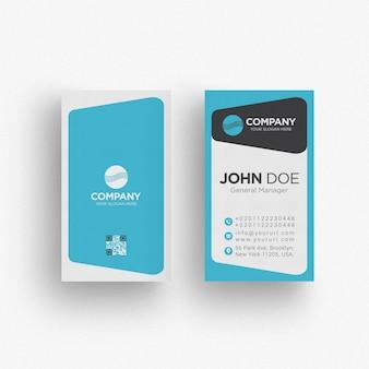 Синий шаблон визитной карточки