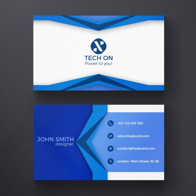 Blue geometric card