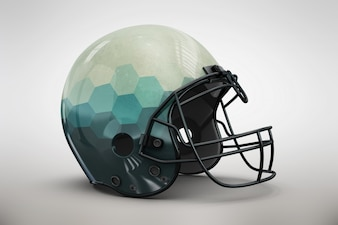 Blue gradient helmet mock up