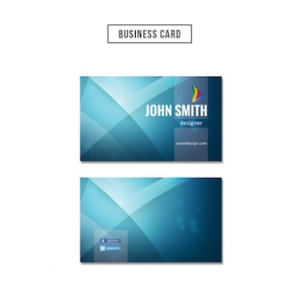 Blue wavy business card