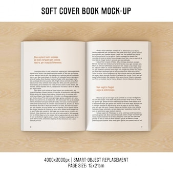 Book pages mock up design