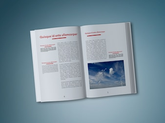 Book's pages mock up