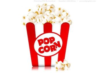 Коробка попкорна значок (PSD)