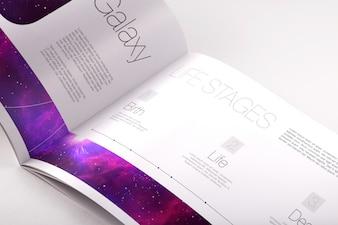 パンフレットは、デザインのモックアップ
