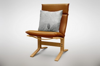 Brown chair mock up