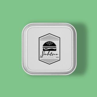 Burger packaging mock up design