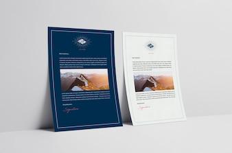 Business brochure mock up