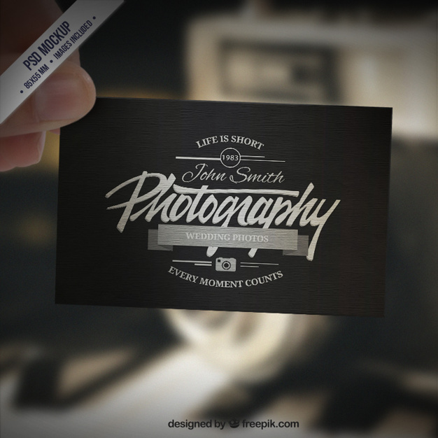 Link toBusiness card mockup in retro style