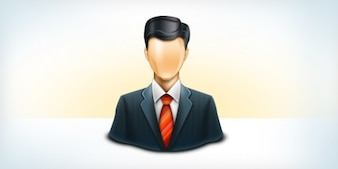 Business user icon  psd & png
