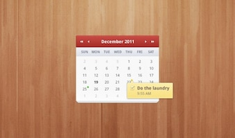 Calendar clean shadow sleek smooth soft subtle ui wood