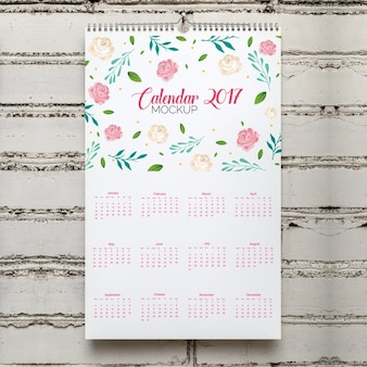 Calendar mock up design
