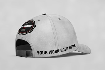 Cap mock up back view