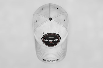 Cap mock up top view