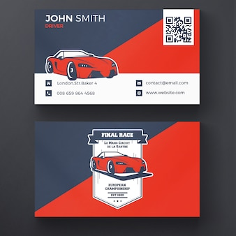 Car racing business card